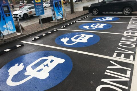 electric car charging <br> bay marking