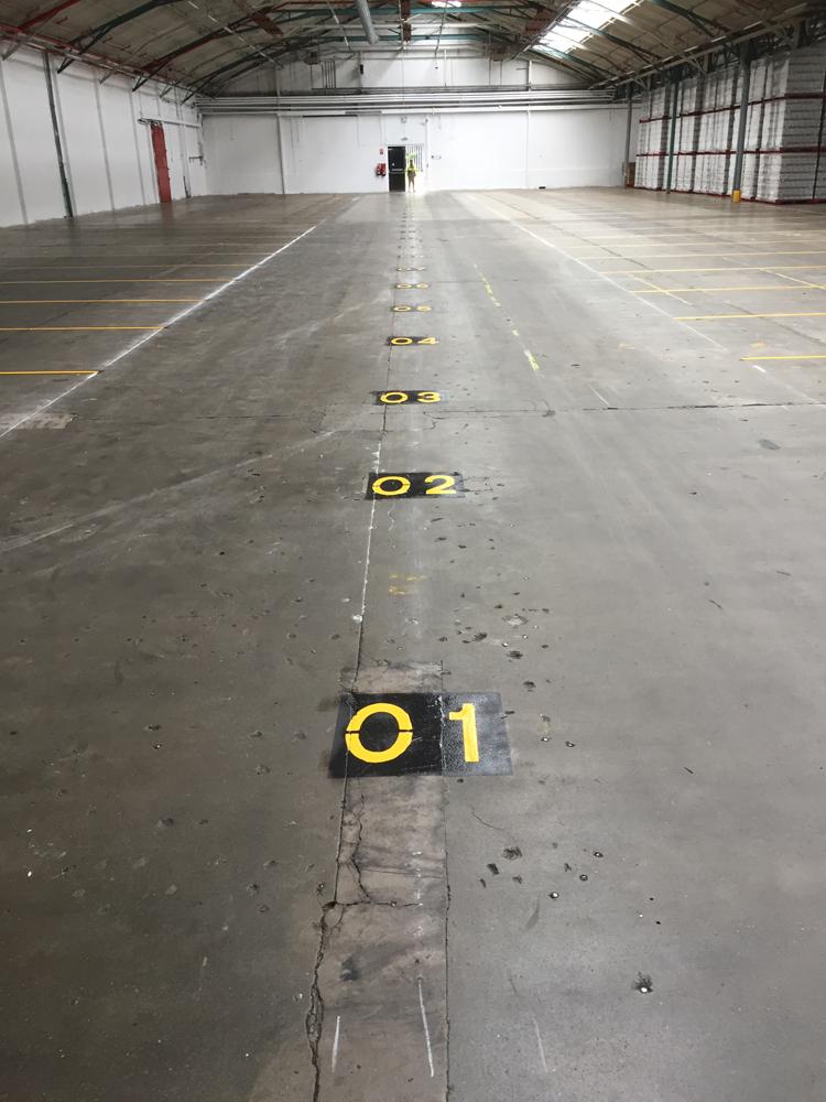 Factory & Warehouse Floor Line Marking Toseland